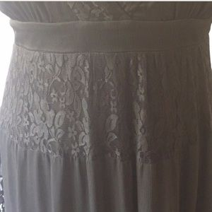 Torrid tiered black lace and chiffon dress 3x